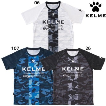 ケルメ KELME カモ柄 プラクティスシャツ KC19S105 サッカー フットサル Tシャツ 半袖 練習 トレーニングウェア