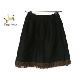 フォクシー FOXEY スカート サイズ40 M レディース 美品 黒×ダークブラウン     スペシャル特価 20190907