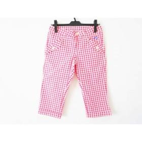 【中古】 パーリーゲイツ PEARLY GATES パンツ サイズ0 XS レディース ピンク 白 チェック柄