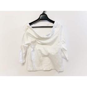 【中古】 グレースコンチネンタル GRACE CONTINENTAL 七分袖カットソー サイズ38 M レディース 美品 白
