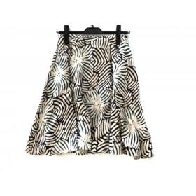 【中古】 アダムジョーンズ ADAM JONES スカート サイズ36 S レディース アイボリー 黒 グリーン