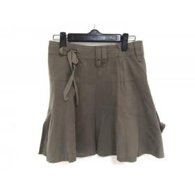 【中古】 バーバリーブルーレーベル Burberry Blue Label スカート サイズ36 S レディース カーキ