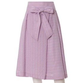 ef-de L / エフデ(エルサイズ) 《大きいサイズ》リボンベルト付きピンストライプスカート