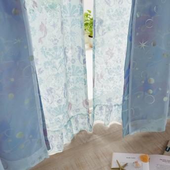カーテンセット カーテン 安い おしゃれ ディズニー アリエル レースカーテン 約100×88 2枚