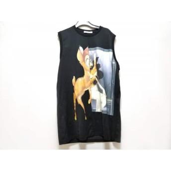 【中古】 ジバンシー GIVENCHY ノースリーブTシャツ サイズXS メンズ 美品 黒 ライトブラウン マルチ