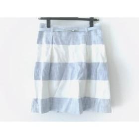 【中古】 ハロッズ HARRODS スカート サイズ2 M レディース ライトブルー 白