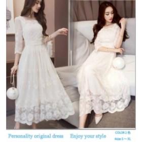 シースルー ワンピース 韓国 パーティードレス 結婚式 二次会 ワンピース 大きいサイズ パーティードレス 結婚式 ドレス お呼ばれ ワンピ