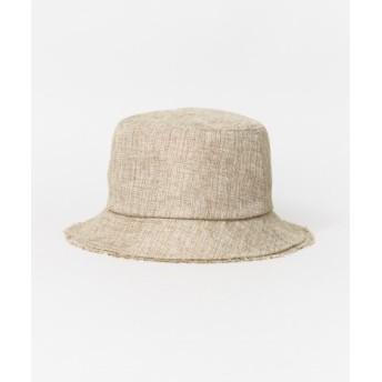 SENSE OF PLACE(センスオブプレイス) 帽子 ハット ジュートタッチフリンジハット