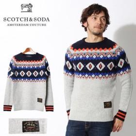 スコッチ アンド ソーダ SCOTCH&SODA クルーネック フェアアイル ニット プルオーバー メンズ