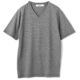 メンズビギ スラブボーダーTシャツ メンズ チャコールグレー L 【Men's Bigi】