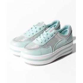 【60%OFF】シュークロラインソールスニーカーレディースブルーS【Shoes in Closet】【セール開催中】