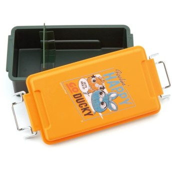 お弁当箱 お弁当用袋 ディズニー ワイヤーロックお弁当箱 カラー 「ダッキー&バニー」