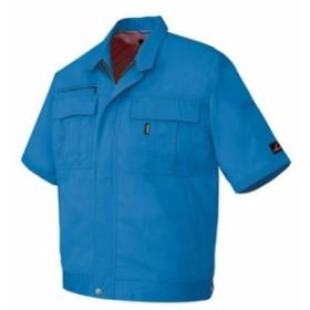 アイトス 半袖ブルゾン(男女兼用) 004シルバーグレー S 5461-004-S