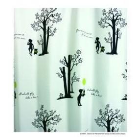 スミノエ Disney(ディズニー)POOH/Shiny park シャイニーパーク[ホワイト] M1036 [幅100×丈135cm]カーテン 1枚入【返品・代引不可品】
