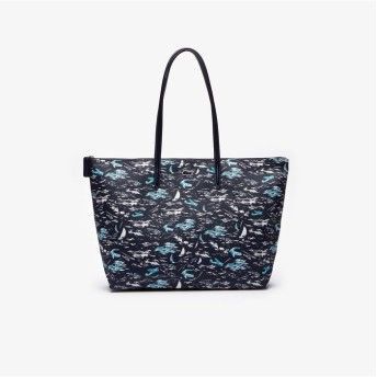 LACOSTE L.12.12 CONCEPT FANTAISIE ハワイアンテキスタイルジップトートバッグ