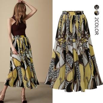 女子力満点のロングスカート 春夏 ロング 体型カバー レディース きれいめレディーススカート/綺麗/可愛い/おすすめ/レディースファッション/大人花柄ロングスカート