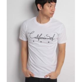 スタイルブロック 綿100%シティーサーフプリントTシャツ メンズ ホワイト M 【STYLEBLOCK】