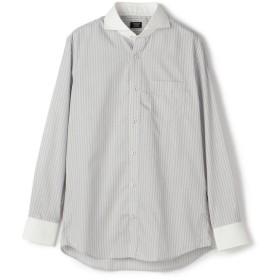 【50%OFF】 メンズビギ ツイルストライプシャツ/EASY CARE メンズ グレー M 【Men's Bigi】 【セール開催中】