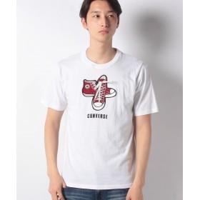 【35%OFF】 マルカワ コンバース シューズシューレース 半袖Tシャツ メンズ ホワイト L 【MARUKAWA】 【タイムセール開催中】