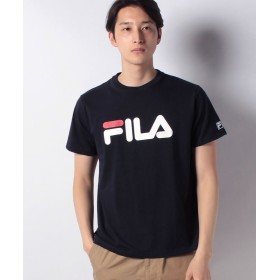 マルカワ フィラ ロゴ 半袖Tシャツ メンズ ネイビー L 【MARUKAWA】