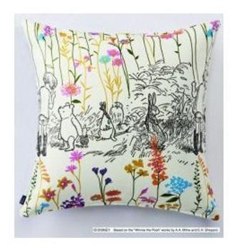 スミノエ Disney(ディズニー) POOH/Garden place ガーデンプレイス [ピンク]M106C [45×45cm] クッションカバー 1枚入【返品・代引不可品】
