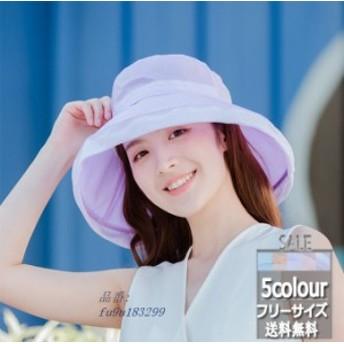 つば広 帽子 レディース 紫外線対策 日焼け止め ファッション UVカットハット オシャレ 春夏 サンバイザー サファリハット 新作 無地