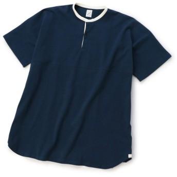 【20%OFF】 メンズビギ ロングラグビーシャツ/度詰め天竺/コットン100% メンズ ダークネイビー M 【Men's Bigi】 【セール開催中】