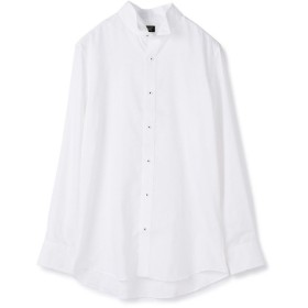 【50%OFF】 メンズビギ 変型ヘリンボーンシャツ/EASY CARE メンズ ホワイト L 【Men's Bigi】 【セール開催中】