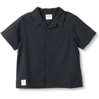 【40%OFF】 ブランシェス オープンカラーシャツ(90~140cm) メンズ ブラック 110cm 【branshes】 【セール開催中】