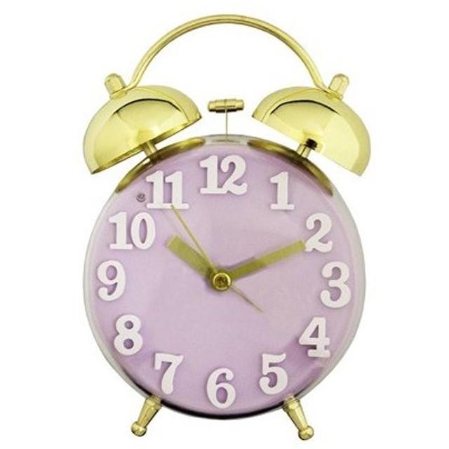 プラスト ツジセル 目覚まし時計/ゴールドクリアツインベルクロック フェミニンシリーズ パープル 2610-225(取寄せ/代引不可)