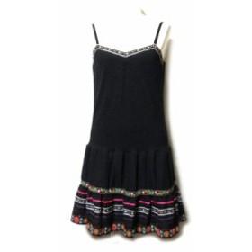 DOLLY GIRL by ANNA SUI ドーリーガール バイ アナスイ「2」チロリアンワンピース (黒 ドレス) 102172