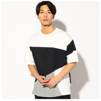 【50%OFF】 メンズビギ ポンチ切替BIGTシャツ メンズ ネイビー M 【Men's Bigi】 【セール開催中】
