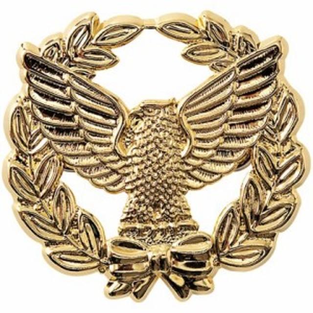 アイトス 帽章(オリーブと鳥)金 019金 F 67011-019-F