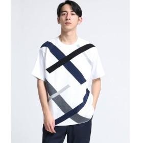 tk.TAKEO KIKUCHI / ティーケー タケオキクチ ニットドッキングランダムスラントシャツ
