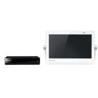 UN-10T8-W Panasonic プライベート・ビエラ 10V型 地上・BS・110度CSデジタル HDD付ポータブルテレビ ホワイト UN10T8W