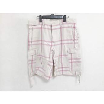 【中古】 ディーゼル DIESEL ハーフパンツ サイズ34 XS レディース 白 ピンク