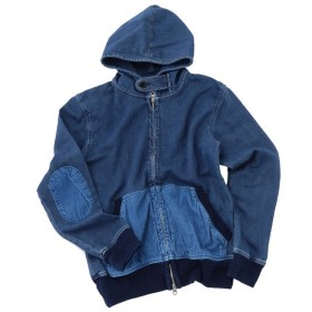 【50%OFF】 メンズビギ エルボーパッチインディゴパーカー メンズ ブルー L 【Men's Bigi】 【セール開催中】