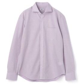 【50%OFF】 メンズビギ 《セオα》ホリゾンタルカラーシャツ メンズ ラベンダー L 【Men's Bigi】 【セール開催中】