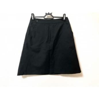 【中古】 マーガレットハウエル MargaretHowell スカート サイズ1 S レディース 黒 ストライプ