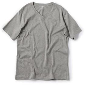 シップス SC: アメリカンシーアイランドコットン Vネック Tシャツ メンズ グレー SMALL 【SHIPS】