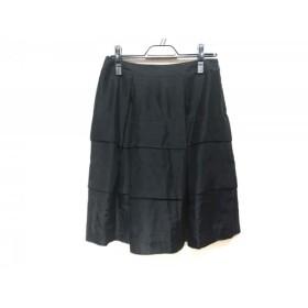 【中古】 エムズグレイシー M'S GRACY スカート サイズ40 M レディース 黒