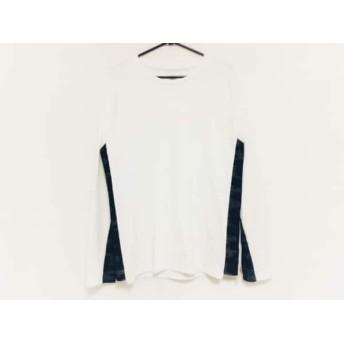 【中古】 エーケーエム AKM 長袖Tシャツ サイズL メンズ 白 黒 Contemporary