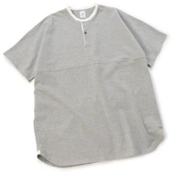 【20%OFF】 メンズビギ ロングラグビーシャツ/度詰め天竺/コットン100% メンズ グレー M 【Men's Bigi】 【セール開催中】