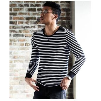 メンズビギ <リブ仕様>スパンフライスロングスリーブTシャツ メンズ ブラック系その他 S 【Men's Bigi】