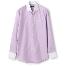 【50%OFF】 メンズビギ コットングレンチェックドレスシャツ メンズ ラベンダー S 【Men's Bigi】 【セール開催中】