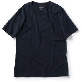 シップス SC: アメリカンシーアイランドコットン Vネック Tシャツ メンズ ネイビー SMALL 【SHIPS】