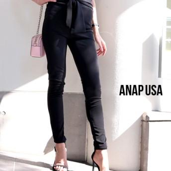 【セール開催中】ANAP(アナップ)フロントリボンブラックスキニーパンツ