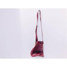 【中古】 カルティエ Cartier ショルダーバッグ マストライン ボルドー 巾着 レザー