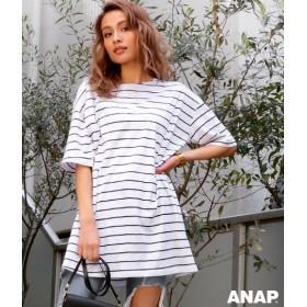 【セール開催中】ANAP(アナップ)ボーダーTシャツチュニック
