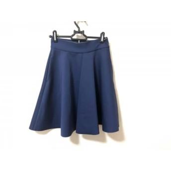 【中古】 エムエスジィエム MSGM スカート サイズ38 M レディース 美品 ネイビー